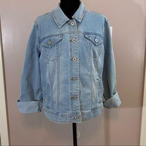 Light wash denim jacket by Style & Co size large